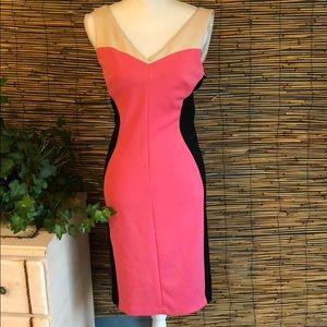 Tricolor blocked dress